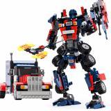 Bán Bộ Lắp Rap Robot Biến Hinh Transformers Gudi Optimus Red Popo Có Thương Hiệu Nguyên