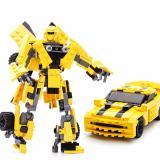 Ôn Tập Bộ Lắp Rap Robot Biến Hinh Transformers Gudi Bumblebee Yellow Popo Transformers