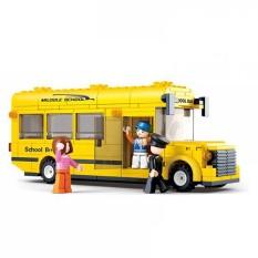 Hình ảnh Bộ lắp ráp Sluban xe bus trường học nhỏ M38-B0507 219 chi tiết