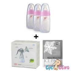 Ôn Tập Bộ May Hut Sữa Unimom Bằng Tay Bộ 3 Binh Trữ Sữa Unimom Co Num Ty Um871128 Đa Kho Diệt Khuẩn Unimom