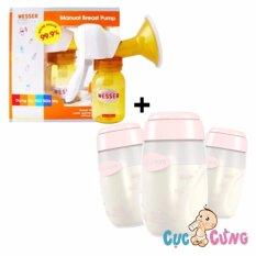 Giá Bán Bộ May Hut Sữa Wesser Bằng Tay Bộ 3 Binh Trữ Sữa Unimom Um880045 Nguyên