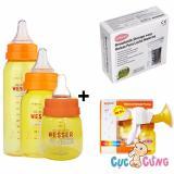 Ôn Tập Bộ May Hut Sữa Wesser Bằng Tay Tui Trữ Sữa Unimom Binh Sữa Wesser 60Ml 140Ml 250Ml Hồ Chí Minh