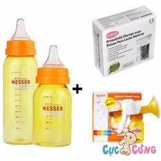 Ôn Tập Bộ May Hut Sữa Wesser Bằng Tay Tui Trữ Sữa Unimom Binh Sữa Wesser 60Ml 140Ml Wesser Trong Hồ Chí Minh