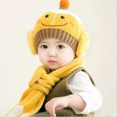 Bộ mũ khăn len cho bé giá rẻ Vega365 hình ngộ nghĩnh (Màu ngẫu nhiên)