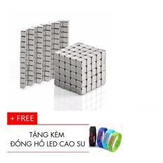 Hình ảnh Bộ Nam châm xếp hình thông minh vuông 216 viên tặng kem đồng hồ led