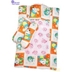 Bộ nệm + gối nằm + 2 gối ôm cho bé ngủ ngon từ 1 đến 3 tháng tuổi (hoa văn ngẫu nhiên)