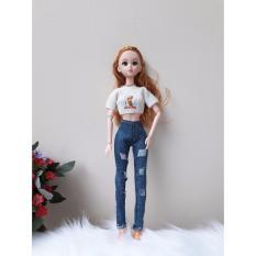 Hình ảnh Bộ quần jeans cho búp bê