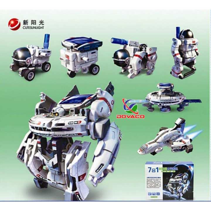 Bộ Robot lắp ghép năng lượng mặt trời 7in1