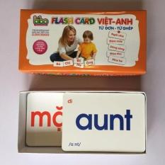 Hình ảnh Bộ thẻ Flashcard song ngữ Việt - Anh dạy trẻ biết đọc sớm (Trắng)