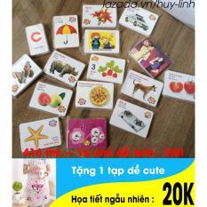 Hình ảnh Bộ thẻ học cho bé 416 thẻ 16 chủ đề đa dạng tiện dụng + free 1 tạp dề