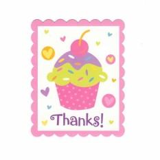 Hình ảnh Bộ Thiệp Cảm Ơn Chủ Đề Cupcake (8 thiệp)