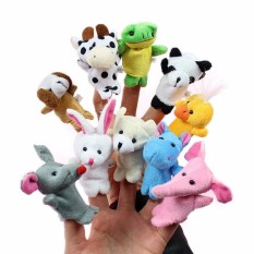 Hình ảnh Bộ thú rối 10 con xỏ ngón tay bằng vải cho bé