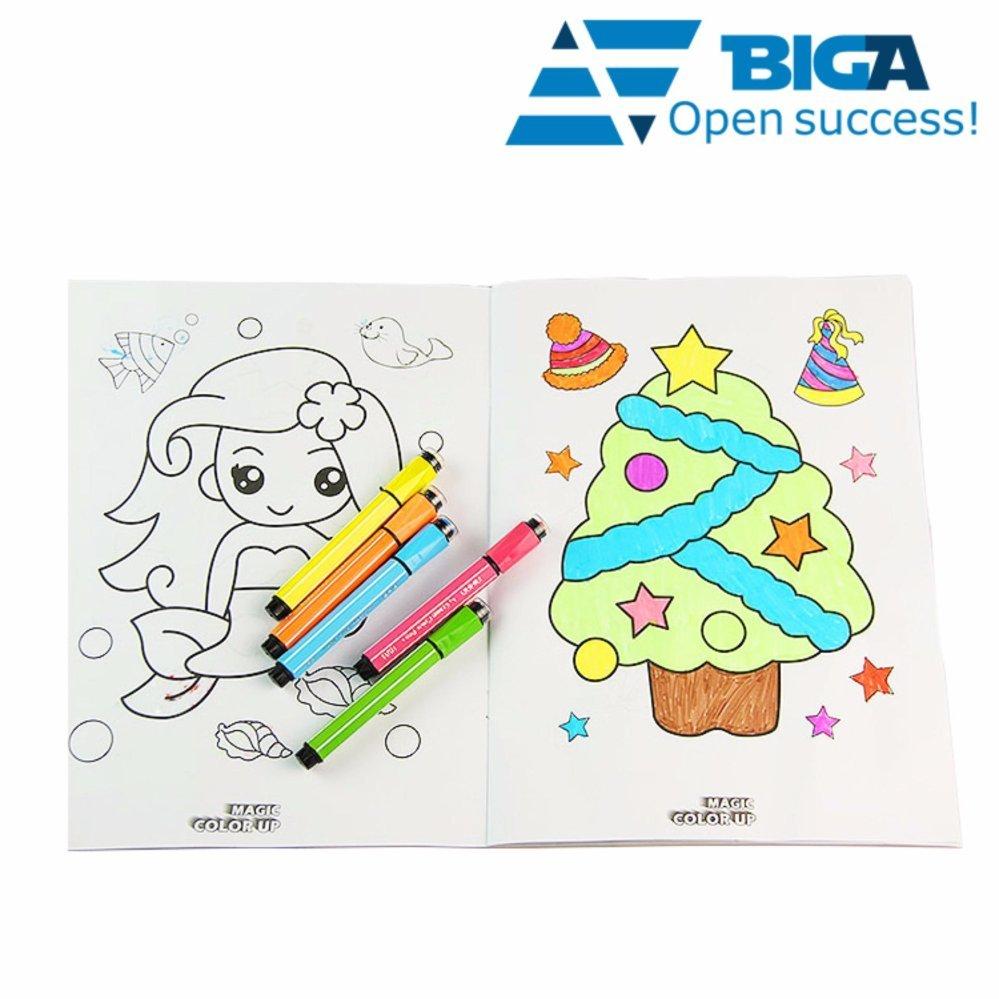 Hình ảnh Bộ Tranh vẽ màu cho bé Biến Thành Thực 4D Dream TOY (Tặng bút màu) US04553