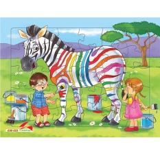 Hình ảnh Bộ tranh xếp hình 30 mảnh- Chất liệu giấy ép + Tặng kèm tranh tô màu cho bé