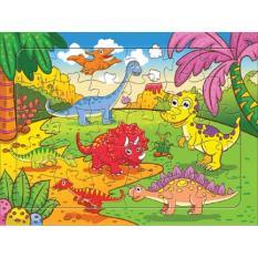 Hình ảnh Bộ tranh xếp hình gia đình khủng long 30 mảnh A4