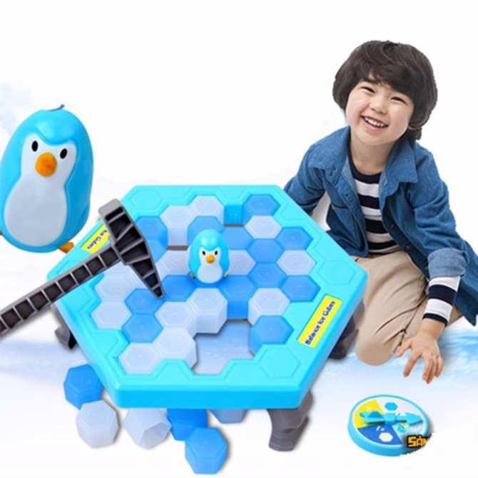 Hình ảnh Bộ trò chơi bẫy chim cánh cụt - phá băng (Xanh trắng)