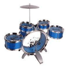 Hình ảnh Bộ Trống Jazz Drum 5 Trống Cho Bé Phát Triển Trí Tuệ (Xanh)