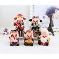 Hình ảnh Bộ tượng 5 Ông Thần Tài Phúc Lộc Thọ May Mắn Ngộ Ngĩnh