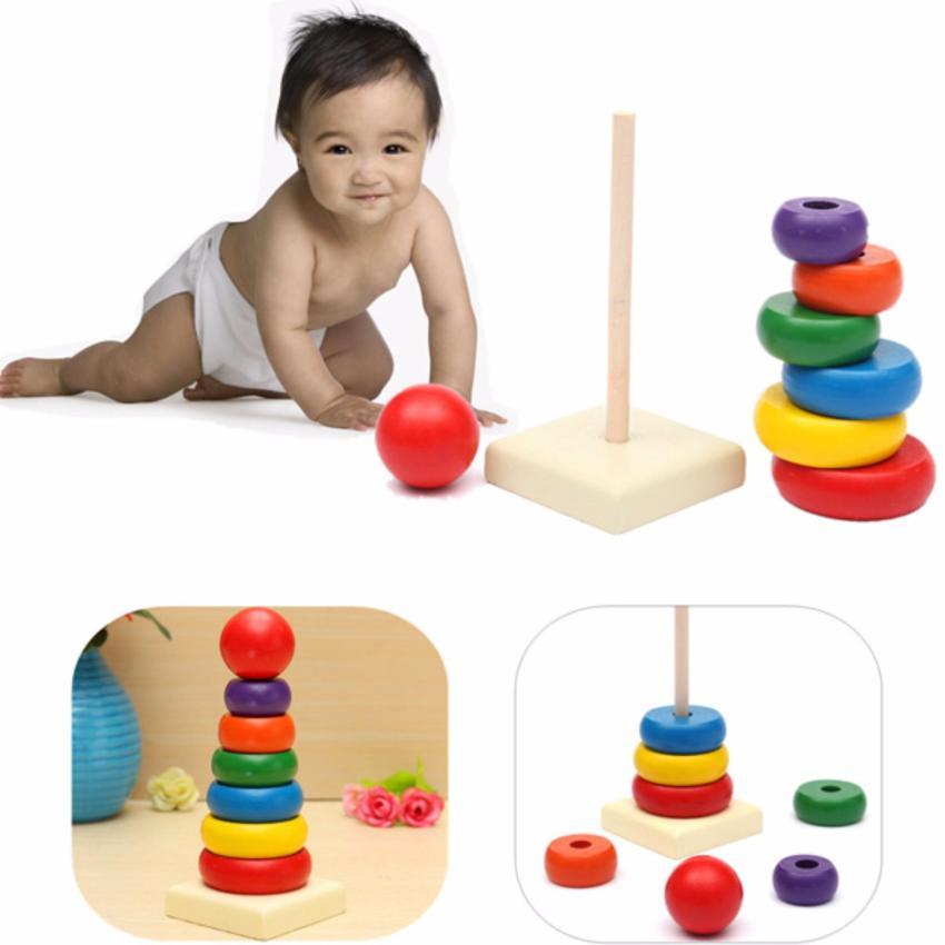 Hình ảnh Bộ xếp hình tháp bằng gỗ thông minh
