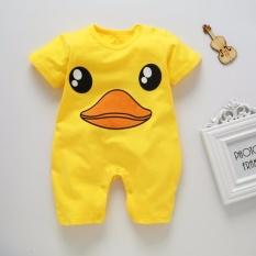 Bodysuit áo liền quần in hình con vịt dễ thương cho trẻ sơ sinh giá rẻ
