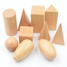 Hình ảnh BOHS Học Tập & Giáo Dục BOHS Nhận Thức Đồ Chơi Toán Học Montessori Bằng Gỗ Hình Dạng Hình Học Chất Rắn Khối Hình Học Bộ 10 cái/bộ-quốc tế