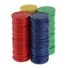 Hình ảnh BolehDeals 160 Chip Poker bằng nhựa-Đỏ xanh lá xanh biển vàng-quốc tế