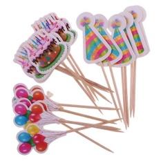 Hình ảnh BolehDeals 18 cái Giấy Bánh Balo Nón Nón Cupcake Chọn Bánh Topper Trẻ Em Trang Trí Tiệc-quốc tế