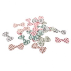 Hình ảnh BolehDeals 24 Pieces Paper Bowknot Cupcake Cards Cake Topper Wedding Birth Party Decor - intl