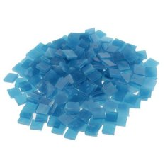 Hình ảnh BolehDeals 250 Pieces Vitreous Glass Mosaic Tiles for Arts DIY Crafts Lake blue - intl