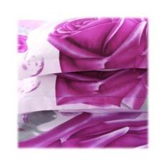 Bolehdeals 4 Piece 3D Flower Bedding Set Quilt Cover With 2 Pillow Case Flat Sheet 5 Intl Hong Kong Sar China Chiết Khấu