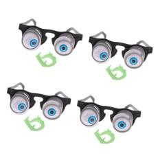 Hình ảnh BolehDeals 4 cái Bật Ra Mắt Kính Droopy Mắt Mùa Xuân Kính Trang Phục Đảng Trò Đùa-quốc tế