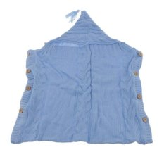 Hình ảnh BolehDeals Baby Hand Knitted Newborn Baby Sleeping Bag Knit Cocoon Pod Sleeping Bag Skyblue - intl