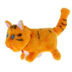 Hình ảnh BolehDeals Batteries Operated Kitten Cat Plush Simulation Animal Toy Yellow - intl