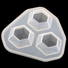 Hình ảnh BolehDeals Hình Kim Cương Dẻo Silicone Khuôn Mẫu cho Nhựa Đúc Trang Sức Làm 7x6.9x2.5 cm-quốc tế