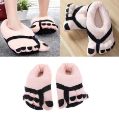 Hình ảnh BolehDeals Naughty Toe Feet Warm Soft Plush Slippers Adult Novelty Gift Slippers - intl
