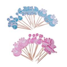 Hình ảnh BolehDeals gói 36 cái Cho Bé Cupcake Phím Christening Xe Đẩy Trẻ Em Yếm Lục Lạc Cupcake Trang Trí đồ Đó là một Cô Gái cậu bé Đảng Phụ Kiện-quốc tế