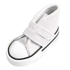Hình ảnh BolehDeals đôi Dính Chắc Dây Đeo Cao Cấp Top Giày Vải cho 1/4 BJD Doll Phụ Kiện Màu Trắng-quốc tế