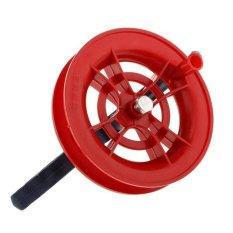 Hình ảnh BolehDeals Red Kite Grip Reel Winder Wheel Handle Tool w/ Twisted String 30M Dia.12cm - intl