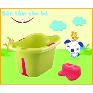 Bồn tắm thành cao cho bé 78x54x42 cm (Xanh lá) thumbnail