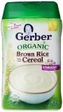 Ôn Tập Tốt Nhất Bột Ăn Dặm Brown Rice Gerber Cereal Organic 227 Gr