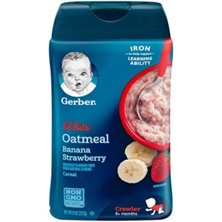 Bột ăn dặm Gerber yến mạch chuối dâu cho bé từ 8 tháng tuổi MẪU MỚI thumbnail