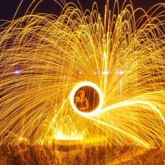 Hình ảnh Bùi nhùi thép chụp phơi sáng (Cuộn 1 mét)