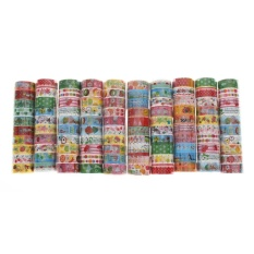 Hình ảnh Bulk10Pcs/1.5cmX3 Meter Paper Sticky Adhesive Sticker Decorative Washi Tape - intl