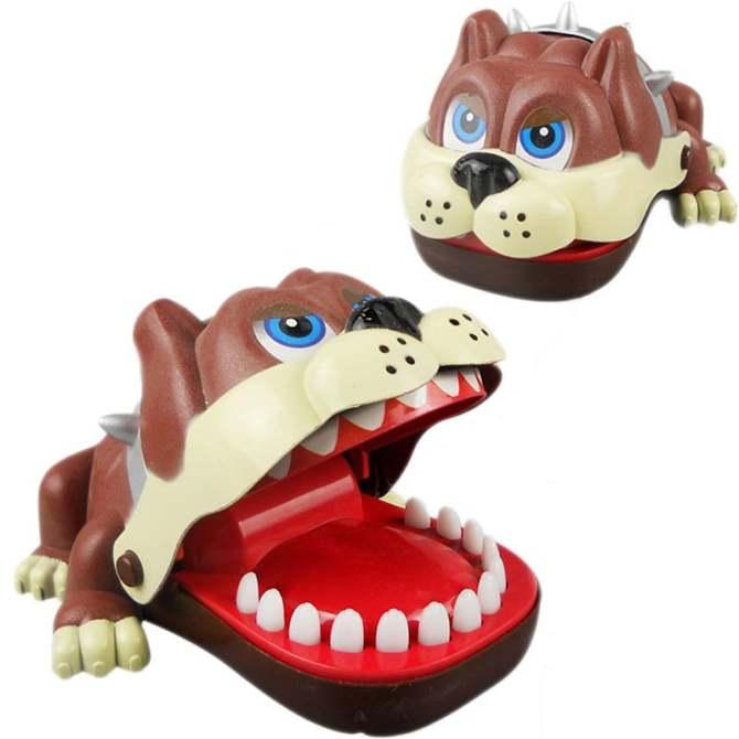 Bulldog Bite Finger Game Funny Children Party Toy Animal Mouth Dentist Kid Gift - intl