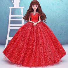 Hình ảnh Búp Bê Khớp Cô Dâu Xinh Đẹp ( Đỏ ) Tặng Kèm 3 Váy Ngắn