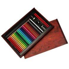 Hình ảnh Bút màu hộp gỗ Colormate MS-30W