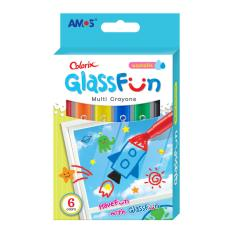Bút Sáp Vẽ Trang Trí Trên Kính Hàn Quốc Amos Glass Fun 6 Màu By Bnl Ace Happy.