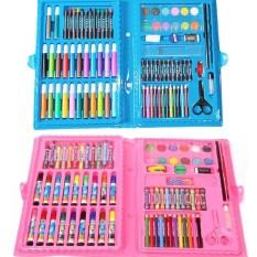 Hình ảnh Combo 2 bút tập tô màu 86 món cho bé 2 đến 7 tuôi (màu hồng+xanh)