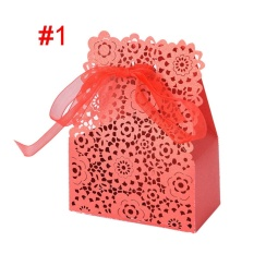 Butterfly Candy Box Wedding Favors Gifts Box for Wedding Supplies 7.5*3.5*9cm - intl