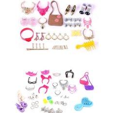 Hình ảnh BUYINCOINS bộ Trang Sức Thời Trang Tai Vòng Cổ Nơ Thái Phụ Kiện Cho Búp Bê Barbie MỘT # B # Họa Tiết Ngẫu Nhiên quốc tế